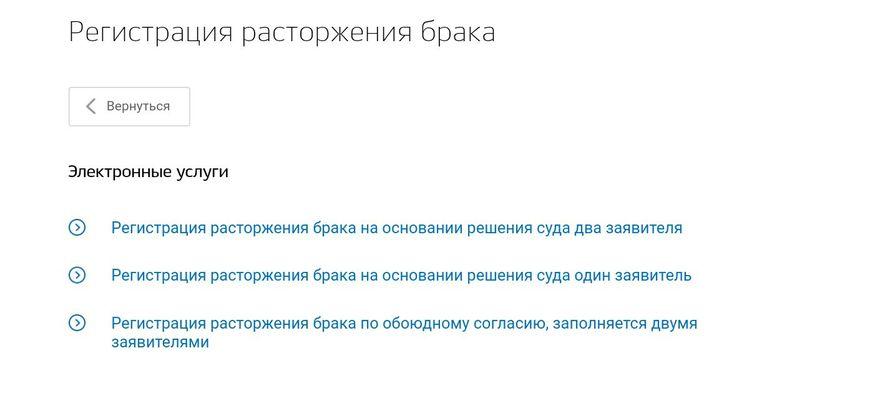 Перечень актуальных услуг на портале